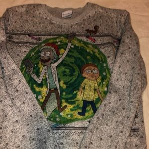 Sweaters - Ugly Christmas Swearer Rick and Monty